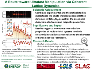 """Highlight entitled """"A route toward unltrafast manipulation via coherent lattice dynamics"""" from paper in Nature Communications from Tom Devereaux's group"""