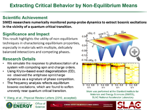 "Highlight titled ""Extracting Critical Behavior by Non-Equilibrium Means"" from paper in PRL by Yao Wang of Devereaux group"