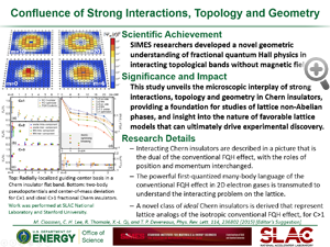 """Highlight titled """" Confluence of strong interactions, topology and geometry"""" from paper in Physical Review Letters from Tom Devereaux's group."""