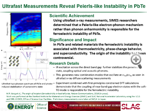"Highlight entitled ""Ultrafast Measurements Reveal Peierls-like Instability in PbTe"" from paper in Nature Communications by David Reis et al."