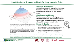 "Highlight entitled ""Identification of Transverse Fields for Ising Nematic Order"" from paper in PNAS from Steven Kivelson and group"