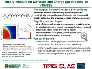 "HIghlight entitled ""Theory Institute for Materials and Energy Spectroscopies (TIMES)"" from a  paper in Physics Review Letters from Joel Moore and colleagues."