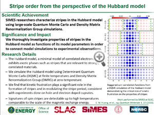 "HIghlight entitled ""Stripe order from the perspective of the Hubbard model"" from paper in npj Quantum Materials from Professor Tom Devereaux group"