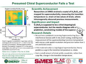 "Highlight entitled ""Presumed chiral superconductor fails a test"" from paper in Physics Review B from Professor K. Moler's group"
