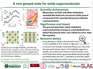 "Highlight entitled ""A new ground state for oxide superconductor"" from a paper in Nature Materials from Dr Wei-Sheng Lee's group"